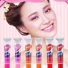 6PCS/Set New Peel Off Lip Gloss Mask Tint Long Lasting Waterproof Full Lipstick Tattoo Magic Color For Women Lip Makeup Tools