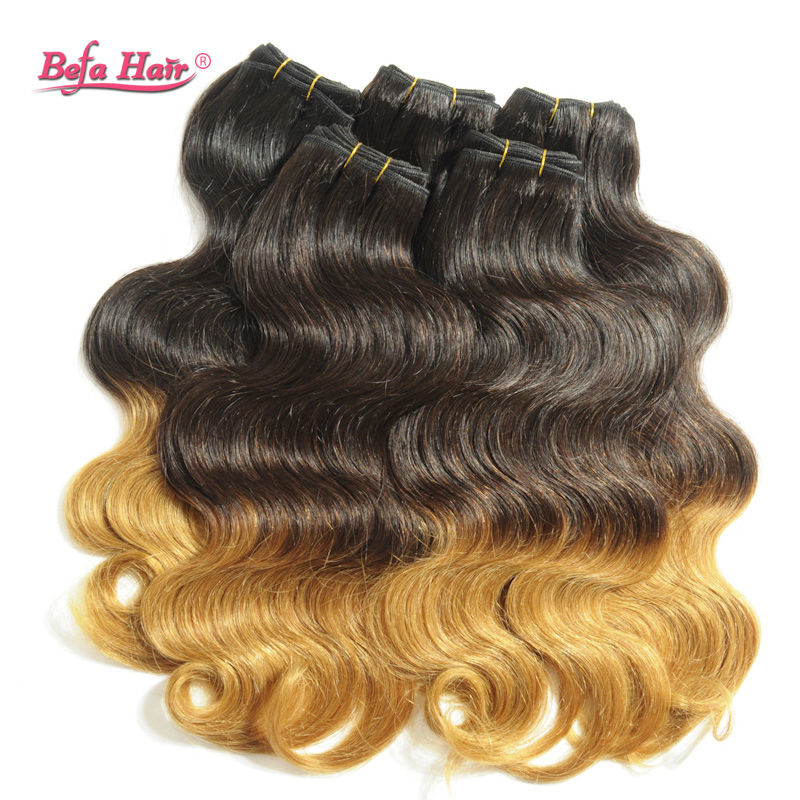 1pc body wave ombre hair extensions Dyed from grade 6A virgin hair fast shipping free shedding with all mix length<br><br>Aliexpress