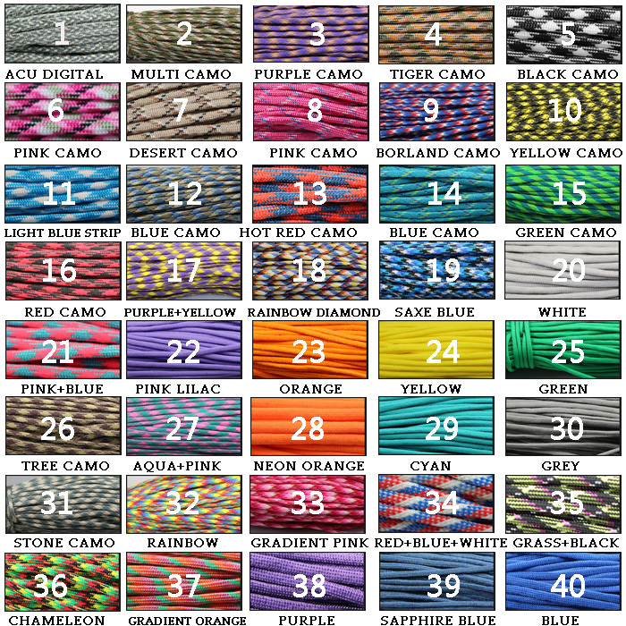 2015 New 80 Colors for Choice 7 Strand Type III Cord Paracord 550 Parachute Cord Lanyard 100 ft(China (Mainland))