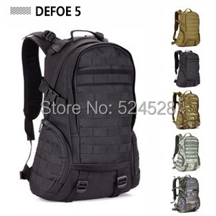 Military 3P Gym Camping bags,Waterproof Molle Backpack School Trekking Ripstop Woodland Tactical Gear Men 35L Drop Shipping  -  DEFOE 5 Outdoors store