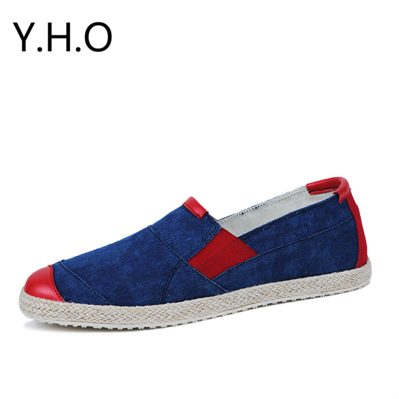 A pedal set foot in summer breathable canvas shoes Korean version of the trend of mens casual shoes lazy of flax straw shoes<br><br>Aliexpress