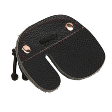 Cow Leather Archery Finger Guard Protection Pad Glove Tab Bow Shooting free shipping