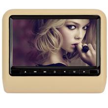 Pumpkn 9 inch TFT LCD Wide Digital Screen Universal Car Headrest DVD Player Multimedia Monitor Black Gray Beige(China (Mainland))