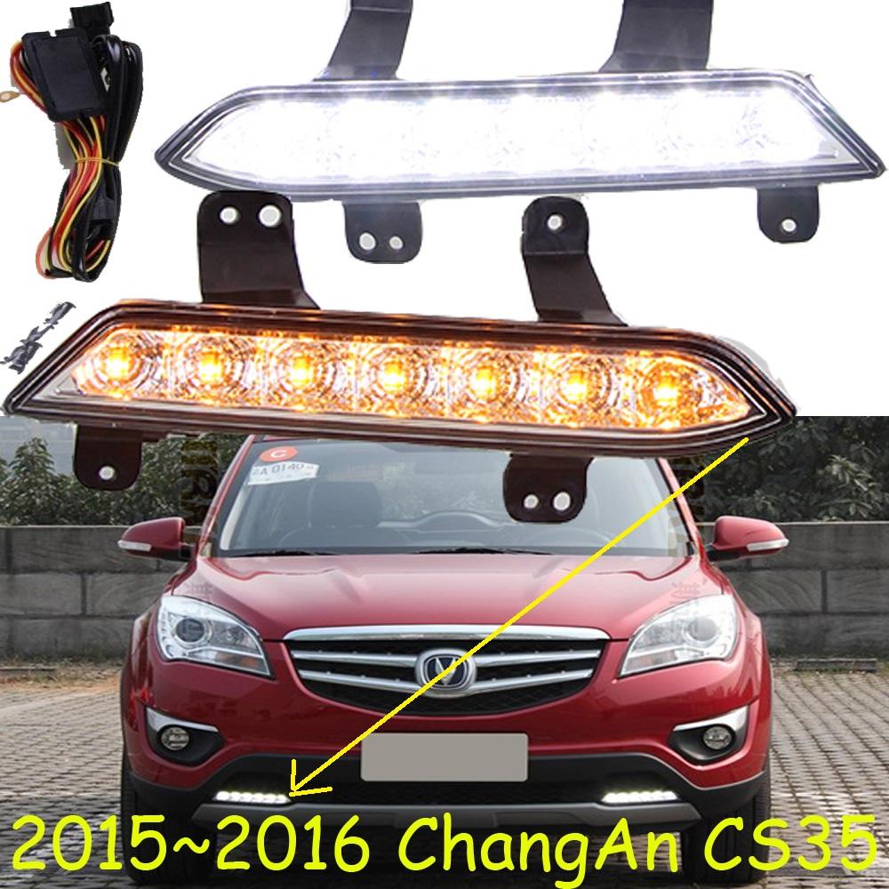 2015~2016 ChangAn CS35 LED daytime running light,2pcs/set(1pcs L+1pcs R)+wire of harness,10W 9~18V,black,6500K,Free ship,good!<br><br>Aliexpress