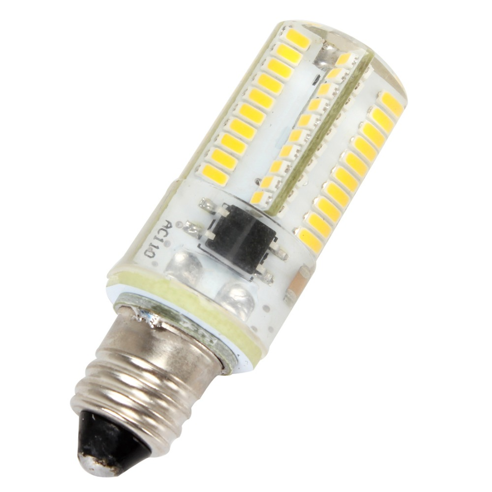 Dimmable E11 White/Warm White 80 LED 3014 SMD Light Silicone Crystal Bulb Lamp 110V/220V<br><br>Aliexpress