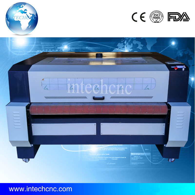 Newest !! For Sofa,Leather,Cutton material fabric laser cutter Intechcnc of Automatic feed 1610(China (Mainland))