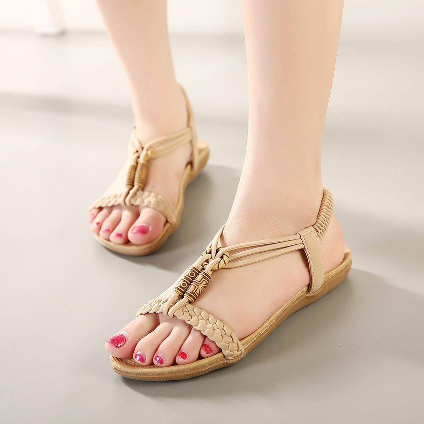 summer styles women sandals 2015 female channel rhinestone ...