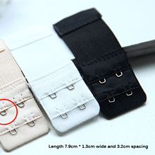 2 Button Trendy Bra Lengthened Buckle Elastic Telescopic Stainless Steel Buckle Color White Black Apricot(China (Mainland))