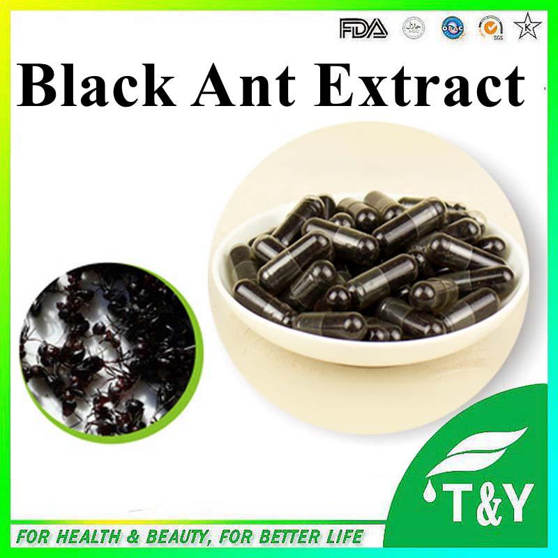 Strong black ant extract powder black ant king capsule 0#capsule 500mg* 400pcs(China (Mainland))