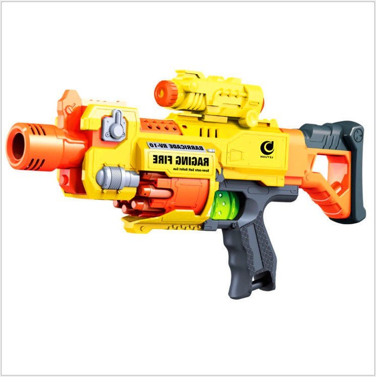 Children 39 s toy gun electric automatic rapid fire long for Nerf motorized rapid fire blasting