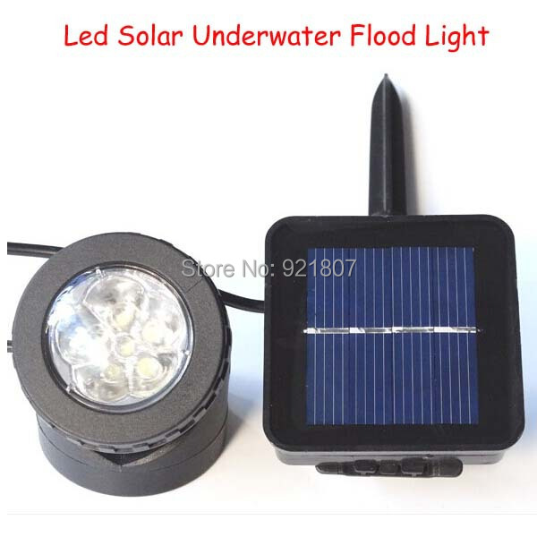 Free shipping Outdoor Led Solar Flood light Solar charged LED Underwater light 2W Solar Underwater Flood Light(China (Mainland))