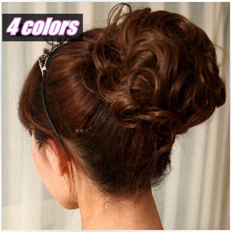 Curly Bun Hair Pieces 4 Colors Big Curly Hair Bun