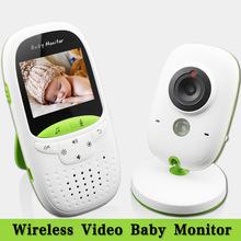 Alta calidad sin hilos 2.0 pulgadas de vídeo Baby Monitor Color de cámaras de seguridad del bebé niñera visión de intercomunicación noche monitoreo de temperatura(China (Mainland))