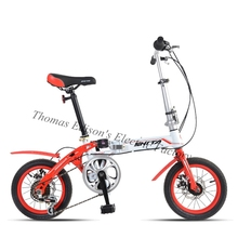 Outdoor 14 inch folding bike gear ultralight disc brakes folding bicycle for Adults Children