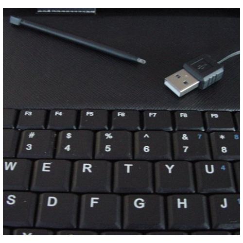 "SZS Hot 10"" / 10.2"" New Black Leather USB Keyboard Folio Case + Stylus For Tablet PC(China (Mainland))"