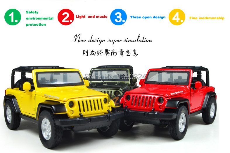 1:32 new metal jeep wrangler Classic Cars Kids Antique Model Toys Car Classic Vintage Alloy Car Model Pull Back Wholesale(China (Mainland))