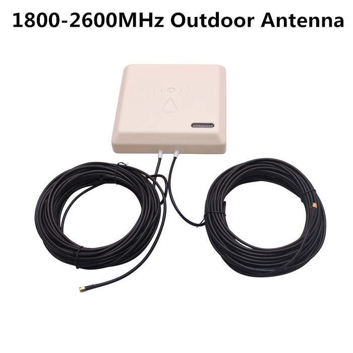 Multi-function 1800-2600MHz Outdoor LTE sector Panel Antenna 9dBi Gain with 2pcs 15m RG58 Cable + SMA MALE Conntector(China (Mainland))