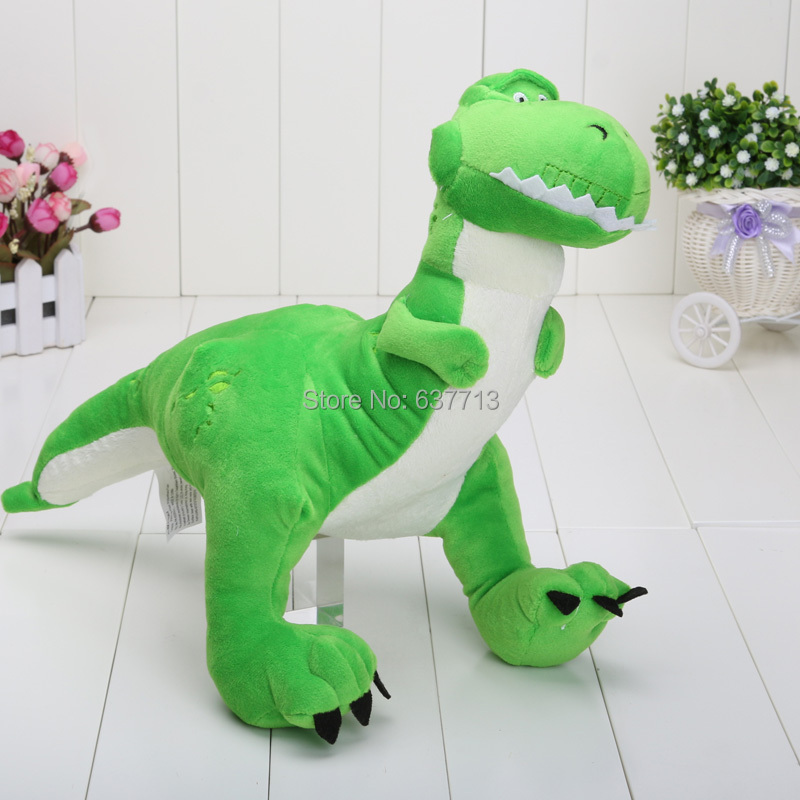 "Free Shipping 11"" Toy Story Rex Dinosaur Plush Dolls Soft Toy Wholesale and Retail(China (Mainland))"
