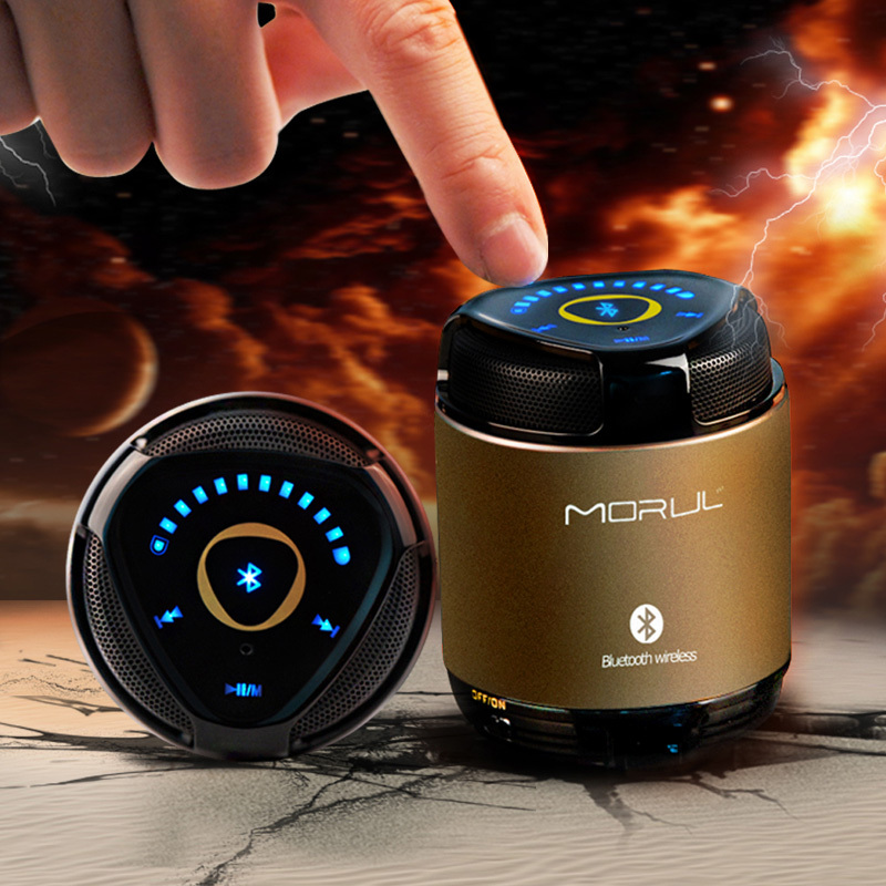 Free shipping Portable Mini Bluetooth Speakers Metal Steel Wireless Smart Hands Free Speaker With SD Card For iPhone(China (Mainland))