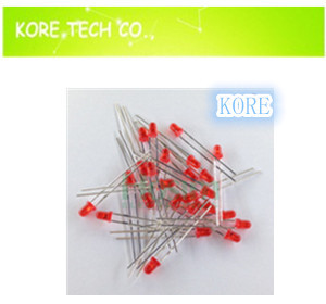 -! 100 5mm Red LED Ultra Bright Straw Hat LEDS Diodes Y - Kore Tech co. Ltd. store