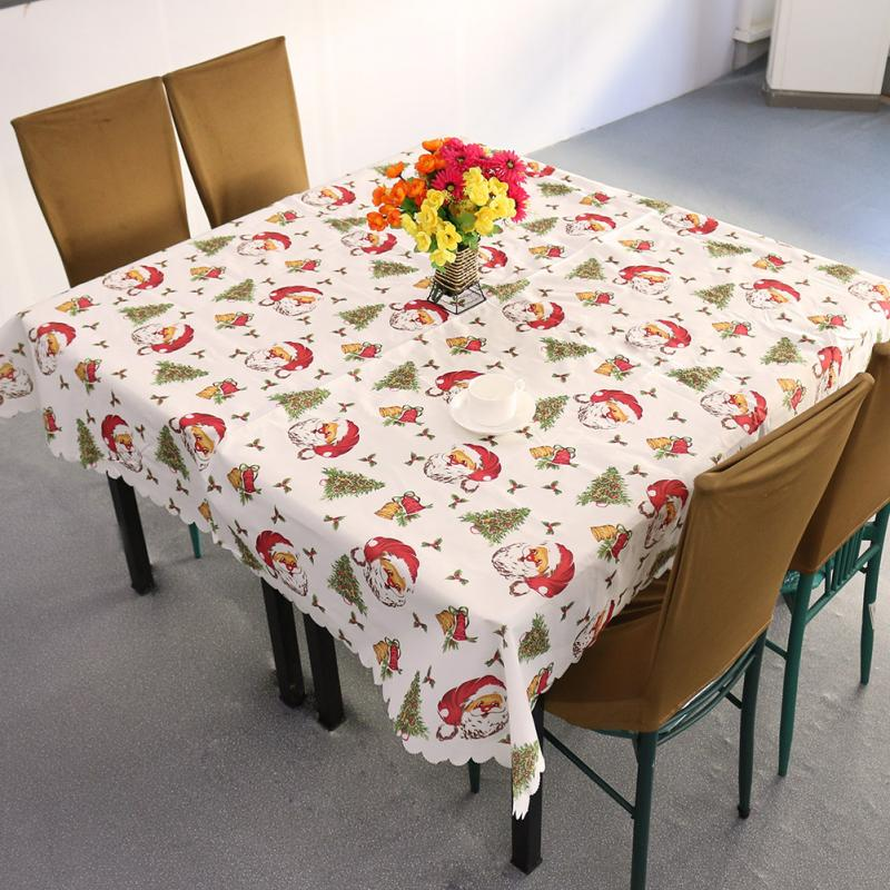 New Design Christmas Santa Claus Tablecloth White/Red Festivals Household Decoration(China (Mainland))