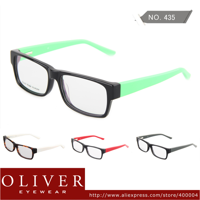 New Design Fashion Free Shipping Women Men High Quality Acetate Optical Frames Full Frame Oliver Eyewear Brand 435
