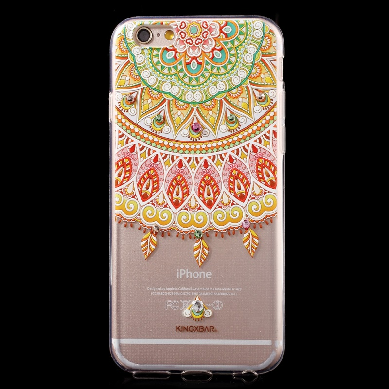 For iPhone 6s Plus/6 Plus 5.5-inch Case KINGXBAR Swarovski Diamond TPU Phone Cover Case for iPhone 6s Plus/6 Plus Shell(China (Mainland))