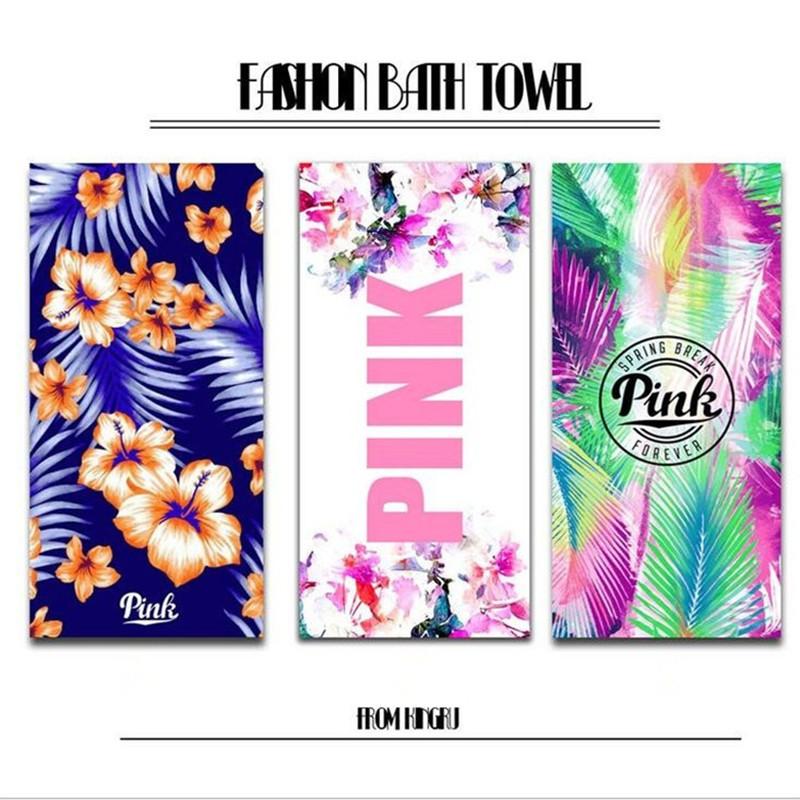 80x180cm Large Size Absorbent Microfiber Bath Towel VS Pink Secret Bath Towels Sport Gym Travel Toallas PINK Beach Towel(China (Mainland))