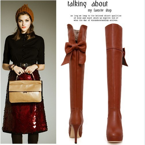 Womens Boots,2013 Autumn New fashion ladies sexy Knee high boots,high-leg zipper long boots,Big Size,Free shipping<br><br>Aliexpress