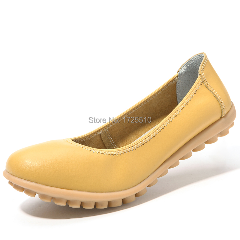 New Design Genuine Leather Cow Muscle Shoes Outsole Women Flats Comfortable Casual Shoes(China (Mainland))