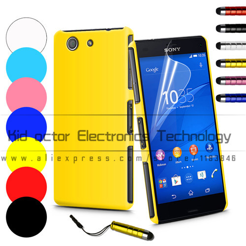 Slim Hard Back Case for Sony Xperia Z3 compact Z3 mini Cover Skin Anti Scratch with free screen protetcor +stylus(China (Mainland))