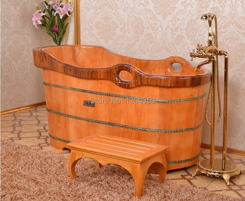 Oak wooden bathtub with chair(China (Mainland))
