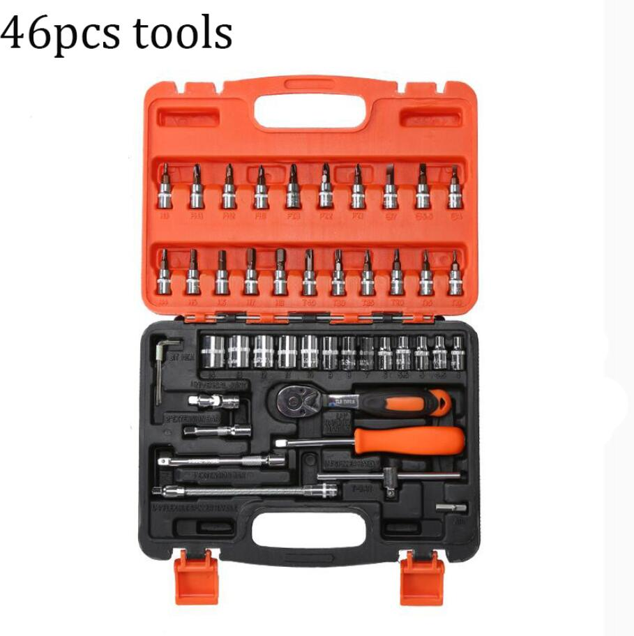 46 tools set car fix tools multifunction household home use hand tools combination repair box in - Household tools ...