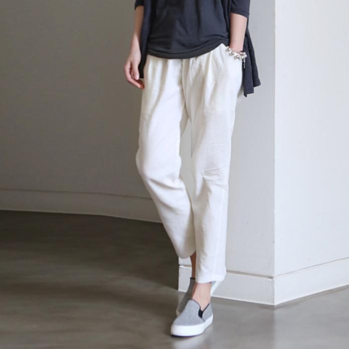 Elegant Petit Bateau  White Women39s Slim Pants In Stretch Cotton Cloth  Lyst