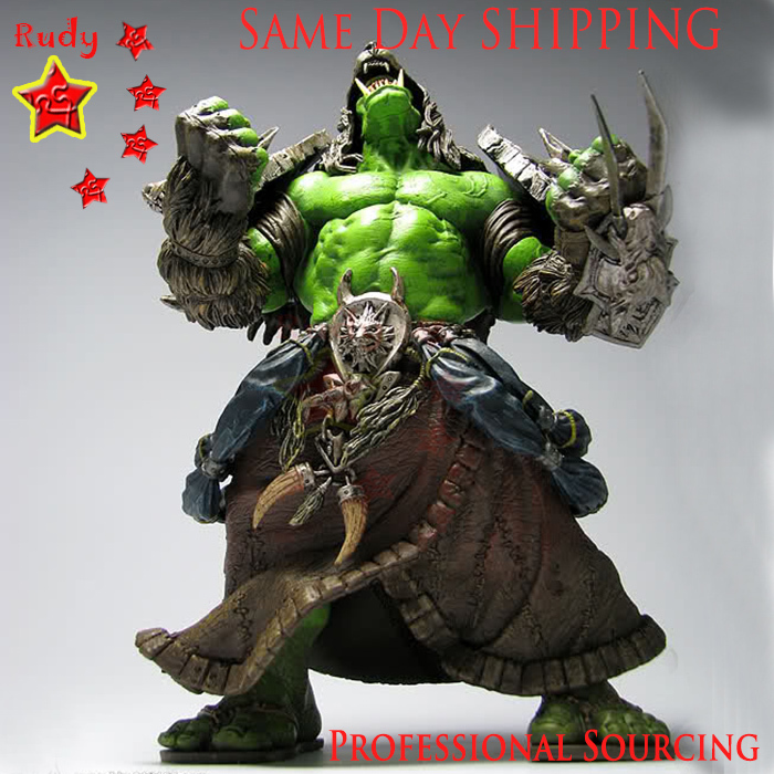 """9"""" Orc Shaman DC1 REHGAR EARTHFURY Collector  Figure, Model, WOW / World of Warcraft world,Rerail & Wholesale, Same Day Shipping"""