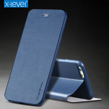 Buy X-Level PU Leather Case iPhone 7 6S Plus 5S Business Flip Phone Cases Iphone 6 7 Plus SE 5 Kickstand Case Cover Coque for $8.55 in AliExpress store