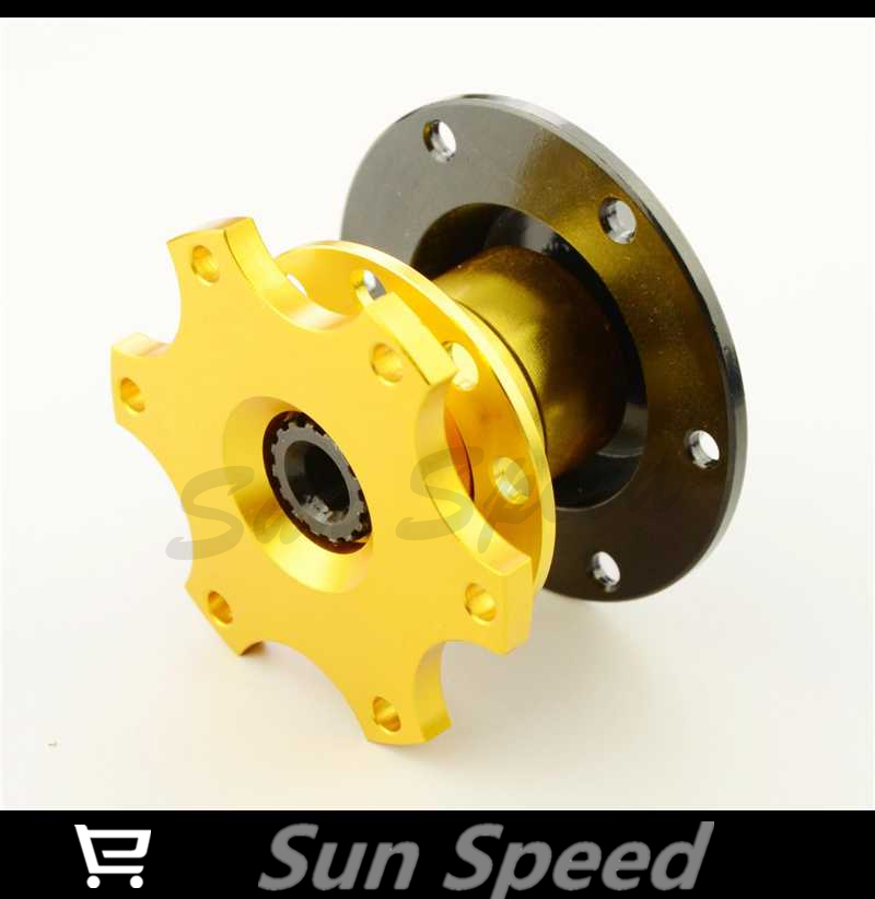 SUN SPEED STORE:Gold Color SPARC Steering Wheel Quick Release Boss Kit(China (Mainland))