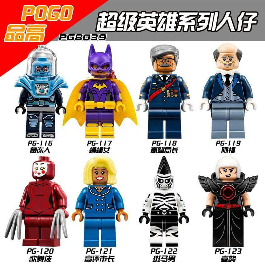 Super Heroes Figures Commissioner Gordon Alfred Kabuki Cnins Mr. Freeze Zebra Man Magpie Building Blocks Kids Toys  -  Toy World Store store