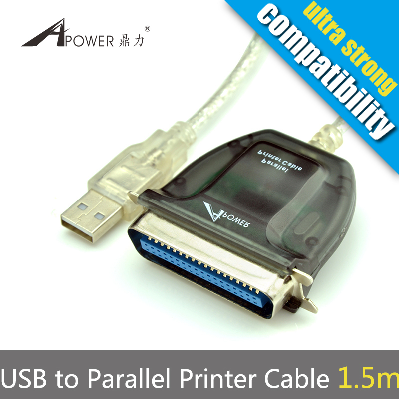 Free Shipping USB To 36 Pin Parallel IEEE1284 Printer Cable(China (Mainland))