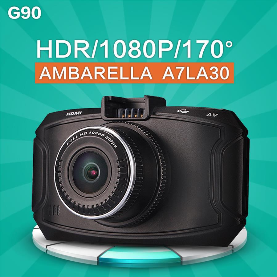 High Quality Ambarella Car DVRS G90 Dash Cam HDMI 1296P 5.0MP DVR With GPS Car Camera Night Vision Dash cam(China (Mainland))
