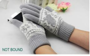 The most popular warm touch screen gloves and women gloves winter with beautiful jacquard weave design wholesale(China (Mainland))
