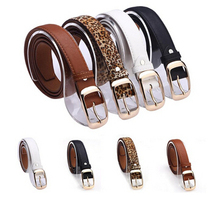 New Arrival Leather Belt Woman,Belts For Women Cinto Feminino Black White Brown Leopard Belt Strap,free shipping,SS0043(China (Mainland))