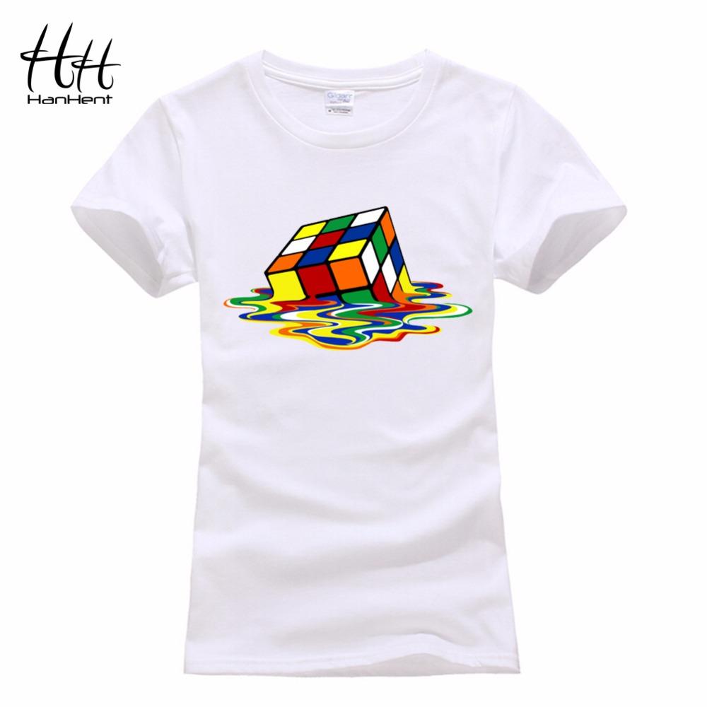 HanHent Hot Sale Rubik Cube Shelton Tshirt Women Sitcoms The Big Bang Theory T shirt Femmes Fashion Summer Funny Design T-shirt(China (Mainland))