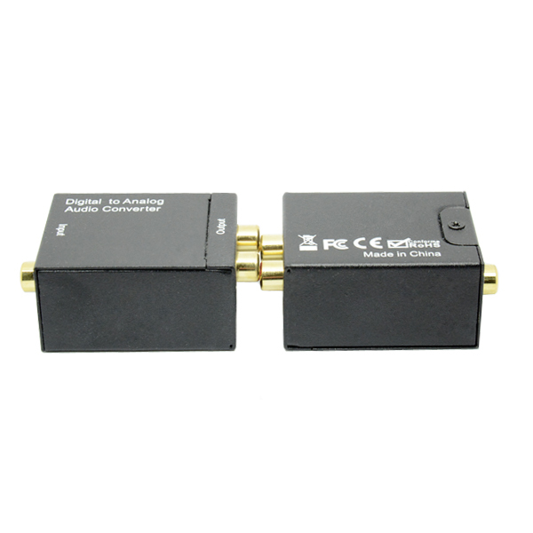 Hot selling audio digital converter to audio analog black color free shipping(China (Mainland))