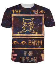 2016 Hot Sell Summer Styles Fashion Cartoon Ancient Mew T Shirt Fashion Men/Women Pokemon Mew Shirt 3D Print Tops T Shirt(China (Mainland))