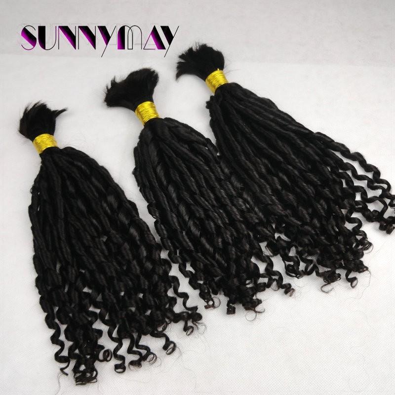 Grade 7A One Pec French Curly Brazilian Virgin Hair Human Braiding Hair Bulk 100g Virgin Hair Wholesale Hair Extensions In Stock