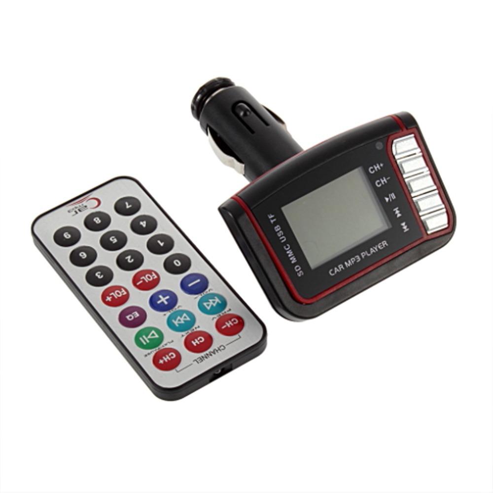 "Гаджет  1.44"" LCD Wireless FM Transmitter Car MP3 Player usb coche TF Card Drive Remote reproductor mp3 car radio cd usb mp3 None Автомобили и Мотоциклы"