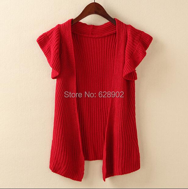 Low price Small sleeveless coat sleeveless wrap sweater sweater Foreign trade sweater(China (Mainland))