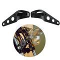 Black Headlight Bracket Adjustable Fork Mount Clamp lamp holder Chopper Bobber Cafe racer 35 43 mm