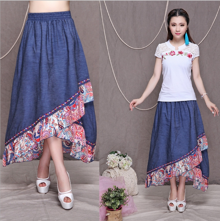New 2014 Summer And Spring National Style Long Skirts ...